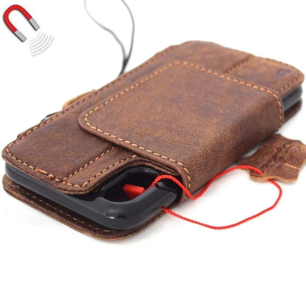 Genuine Leather case for Apple iPhone XS cover retro wallet credit car holder magnetic book Removable detachable high quality holder slim Jafo 48 studio