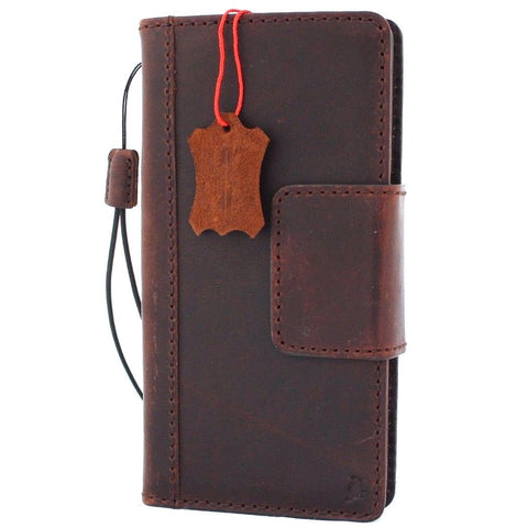 Genuine Vintage Leather case for Samsung Galaxy NOTE 8 book wallet magnetic closure cover cards slots slim holder daviscase