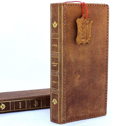 Genuine leather case for samsung galaxy note 8 book bible wallet cover soft vintage cards slots slim wireless charging daviscase
