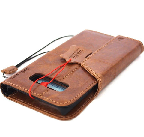 Genuine vintage leather case for samsung galaxy note 8 book wallet tan high qulity magnetic closure cards slots slim jafo 48 design