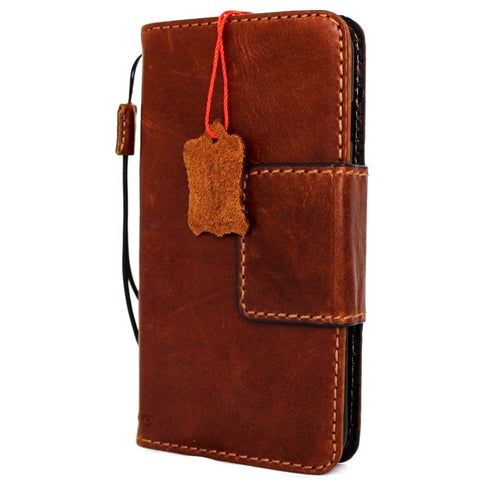 genuine oiled real leather case for iphone 6s plus cover 6 s book wallet band credit card id magnetic business slim magnet  JP daviscase