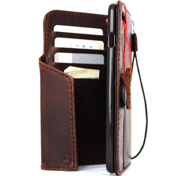Genuine REAL leather iPhone 8 plus magnetic 3D case cover wallet credit holder book luxury Rfid Pay