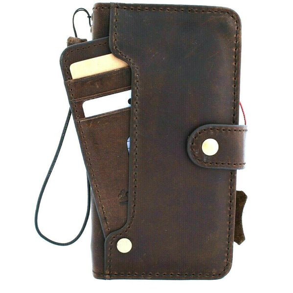 Genuine leather for apple iPhone 11 pro case cover vintage wallet credit car holder  book luxury holder slim Jafo wireless charging