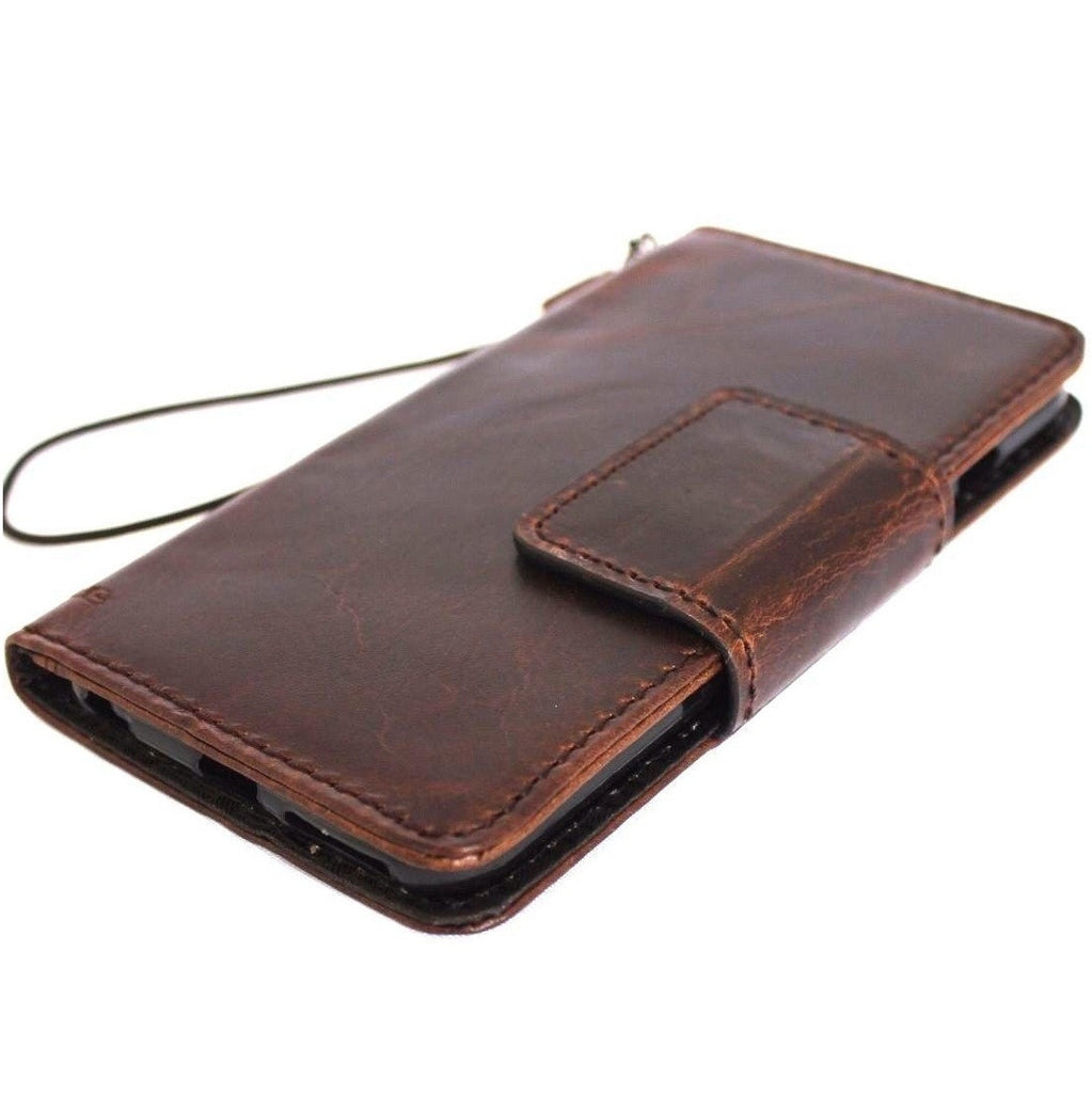 watch 7f128 7ab50 Genuine Real Leather Case for Google Pixel XL 2 Book Wallet Handmade Retro  Luxury holder magnetic IL Davis