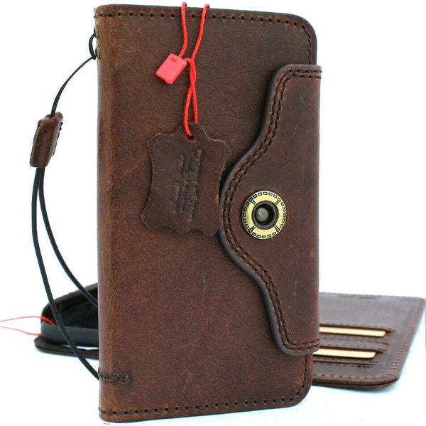 Genuine real leather for apple  iPhone 11 case cover wallet credit holder book wireless charging prime holder slim Jafo Art