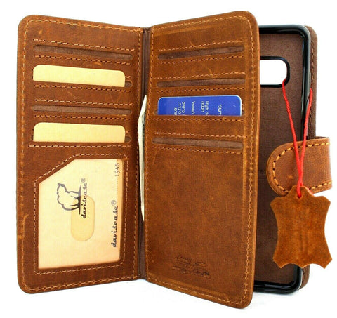 Genuine leather Case for Samsung Galaxy S10e book wallet cover Cards flip Removable stand luxury slim daviscase
