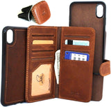 Genuine real leather for Apple iPhone XS MAX case cover wallet credit holder magnetic book tan Removable detachable luxury holder slim Jafo