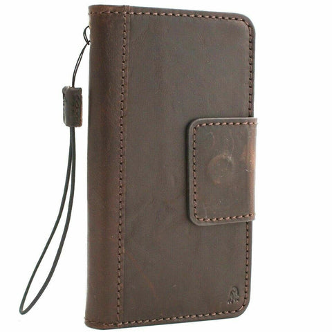 Genuine leather Case for Samsung Galaxy S10 book wallet cover Cards rubber charging window closure flip magnetic slim daviscase