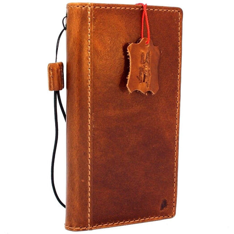 Genuine Natural Leather Case for Google Pixel 3 XL Book Wallet Handmade soft holder Tan Retro Luxury Davis 1948