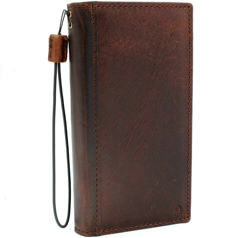 Genuine Real Leather case for Samsung Galaxy Note 10 Plus book slim holder slots rubber stand window wireless charger