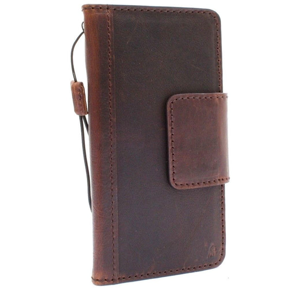 Genuine vintagel leather case for LG G7 book cards wallet magnetic cover slim soft stand luxury holder daviscase
