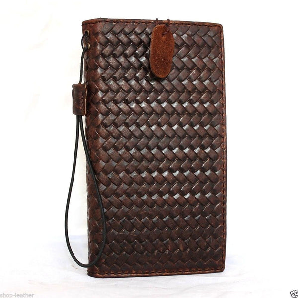 genuine vintage leather case for Galaxy NOTE 4 book pro wallet cover slim cards slots brown thin daviscase