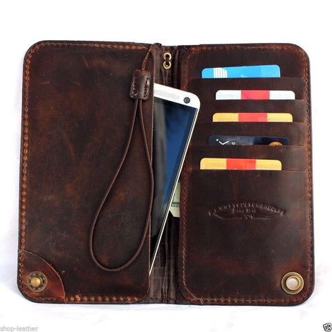 Genuine italian leather hard case for Galaxy NOTE 3  cover book pro wallet stand  flip luxury daviscase thin brown vintage