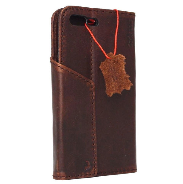 Genuine REAL leather iPhone 7 plus magnetic 3D case cover wallet credit holder book luxury Rfid Pay