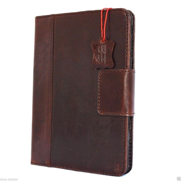 genuine vintage Leather safe case for apple iPad Air 1 magnet cover stand cards wallet hard brown slim daviscase