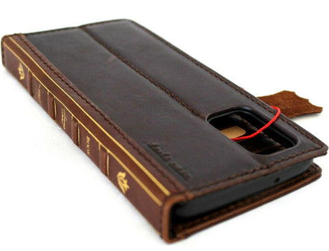 Genuine leather Case for Samsung Galaxy S20 Plus Bible Book Wallet Cover Cards Wireless Charging Holder Luxury Rubber ID