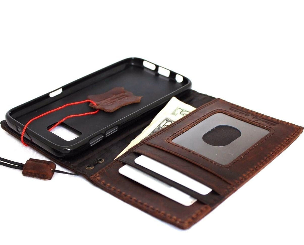 new styles 00ab1 87ab0 genuine vintage leather for samsung galaxy s7 active Case book wallet  luxury 7 s