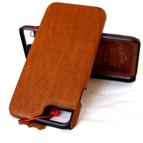 genuine vintage leather Case for iphone 7 plus book slim holder cover Luxury Jp