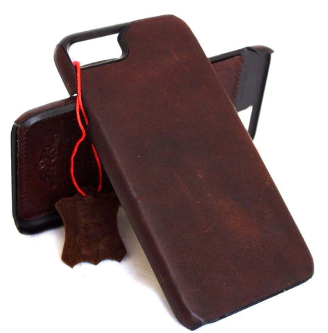 Genuine vintage natural leather Case for iphone 6 6s plus book thin holder magnet cover