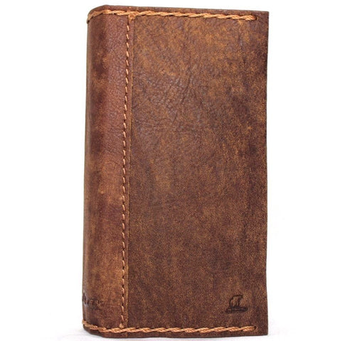 Copy of genuine real leather Case for iPhone 8 plus book wallet cover vintage style credit cards slots luxury id daviscase