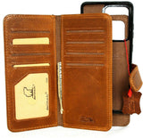 Genuine leather Case for Samsung Galaxy S20 Ultra book wallet Removable cover Cards window Jafo magnetic slim daviscase