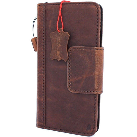 Genuine Dark Real Leather Case for Google Pixel 3 XL Book Wallet ID holder Retro Luxury Flip Magnetic Davis 1948