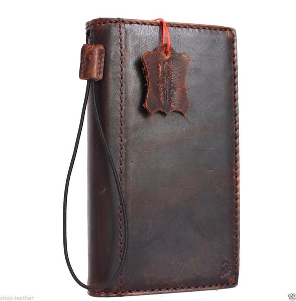 Genuine vintage leather Case for LG Stylus 2 slim cover book luxury Magnet wallet handmade daviscase