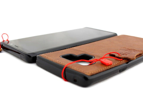 Genuine leather case fo samsung galaxy note 9 book cover soft magnetic vintage luxury rubber car holder