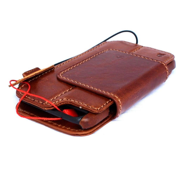 Genuine REAL leather iPhone 6 6s Detachable magnetic case cover wallet credit holder book Removable
