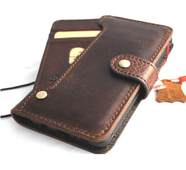 Genuine leather Case for Samsung Galaxy S10e book wallet cover Cards wireless charging window luxury vintage slim daviscase