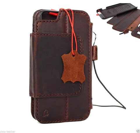 genuine full leather Removable case for iphone 6s plus cover book wallet credit card id magnet business slim  daviscase