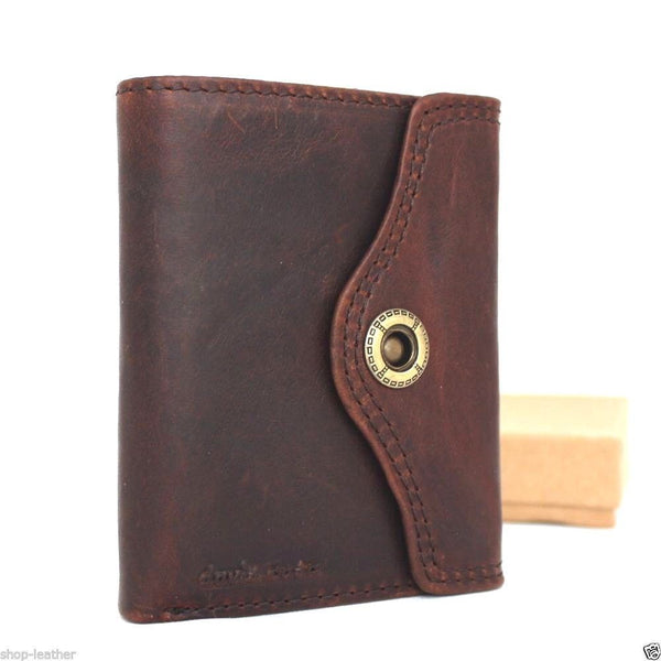 Genuine Men Leather wallet Money Billfold skin ART Special Design Money Clip R