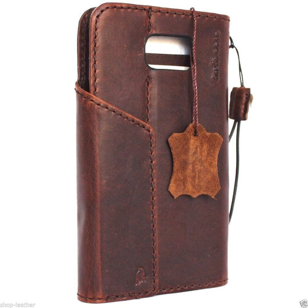 genuine vintage leather Case  for Samsung Galaxy note 5 book wallet luxury cover 5 slim daviscase 3d