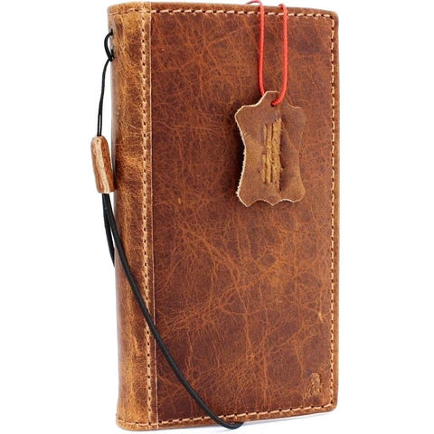 Genuine oiled leather for apple iPhone XS case cover wallet credit soft holder book prime retro slim Art Jafo