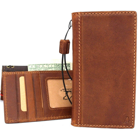 Genuine Real Leather Case for Google Pixel 3 Book Wallet Handmade Rubber Tan Vintage Luxury IL Davis 1948 de