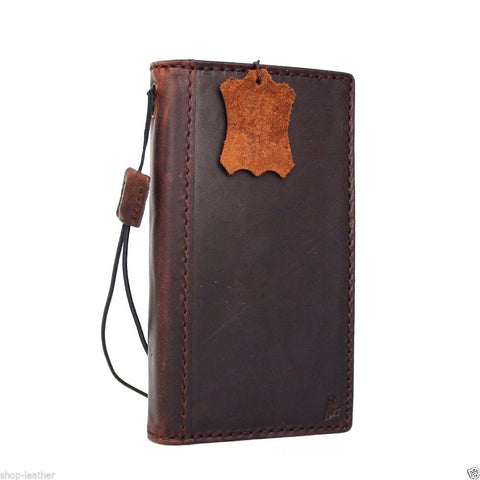 genuine italian leather Case for Samsung Galaxy S6 edge book wallet slim cover luxury brown s Businesse daviscase