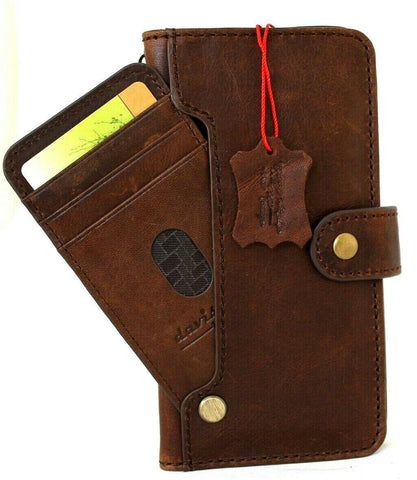 Genuine Soft Leather Case For Apple iPhone 12 Pro Max Book Wallet Vintage Style ID Window Credit Card Slots Soft Slim Cover Full Grain DavisCase