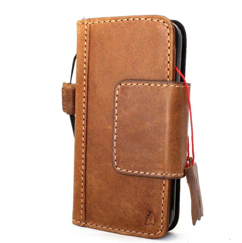 genuine real leather case for iphone 5 5s 5c SE book wallet credit card  cover  magnet bracket daviscase