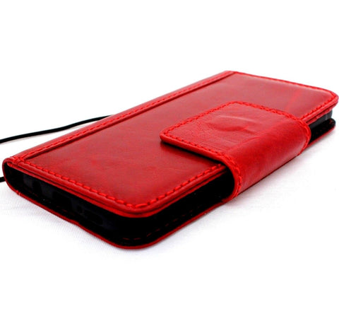 Genuine high quality natural leather Case for Samsung Galaxy S9 book Jafo design wallet handmade oiled magnetic Closure Businesse daviscase wine red