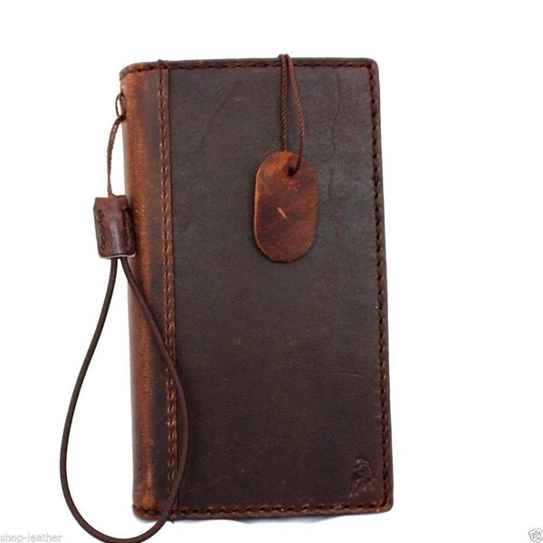 genuine italian leather hard Case for LG G3 book wallet cover slim handmade luxury brown thin daviscase