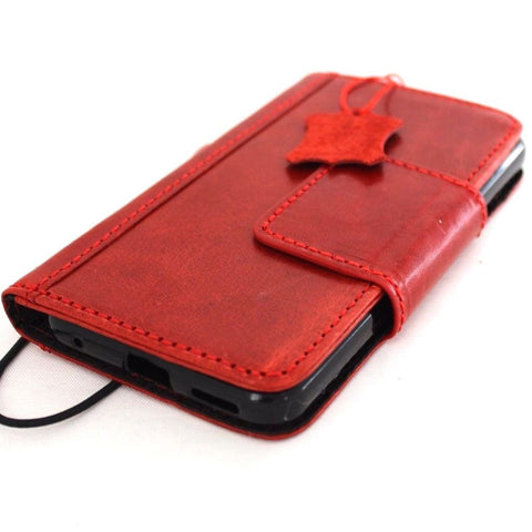 Genuine natural leather case for LG G6 book wallet cover premium handmade wine red magnet slim jafo 48