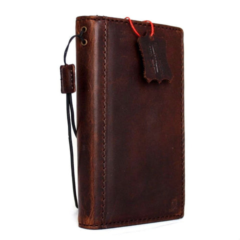 genuine vintage leather case for Microsoft lumia 950 book wallet cover slim brown credit cards slots luxurey thin daviscase