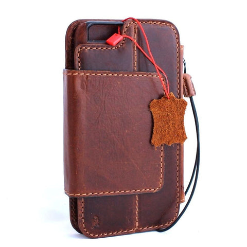 genuine full leather Removable case for iphone 6s plus Detachable cover 6  s book wallet credit card id magnet business slim  daviscase