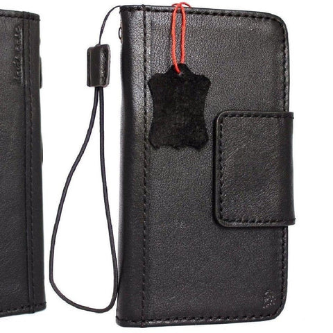 Copy of Genuine vintage leather case for samsung galaxy note 8 book wallet magnetic closure black cover cards slots slim daviscase