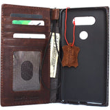 Genuine vintage leather Case for LG V20 slim cover book luxury wallet handmade daviscase