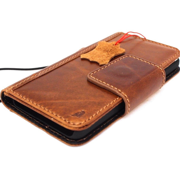 Genuine Real Leather Case for Google Pixel 2 Book Wallet Hand made magnetic vintage authentic AU jafo 48