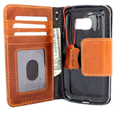 genuine italian leather Case for Samsung Galaxy S7 Active book wallet magnet closure cover cards slots handmade Businesse daviscase mag