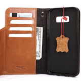 Genuine vintage full leather Case for Samsung Galaxy S8 Plus book magnetic wallet cover light brown strap s 8 slim daviscase