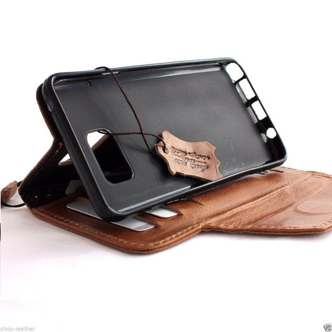 genuine 100% leather Case  for Samsung Galaxy note 5 book wallet luxury cover 5 slim daviscase pro