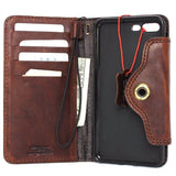 Genuine REAL natural leather iPhone 8 plus  case cover wallet credit holder book luxury Rfid Pay